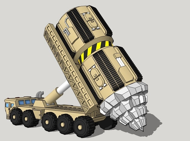 """6mm Space Dwarf """"Vole"""" Tunneling Assault Vehicle in Smooth Fine Detail Plastic"""