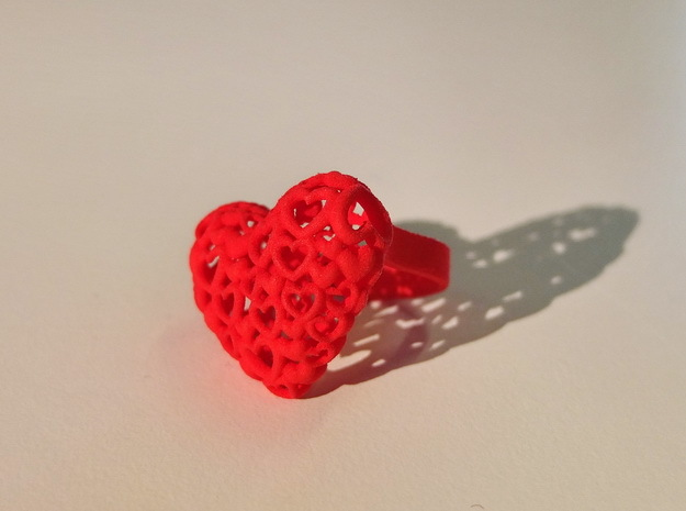 Heart by Heart ring in Red Strong & Flexible Polished