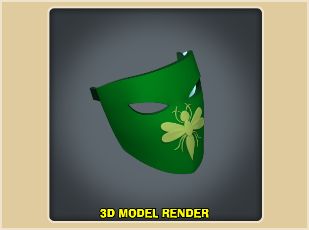 Green Hornet Mask - Year One in White Processed Versatile Plastic
