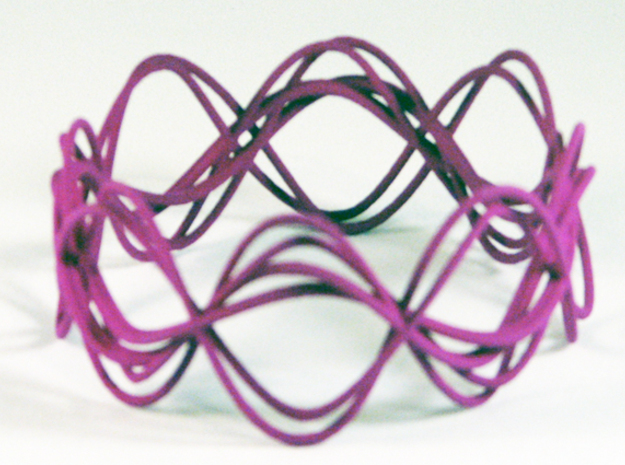Wave Bangle B25L in Purple Processed Versatile Plastic