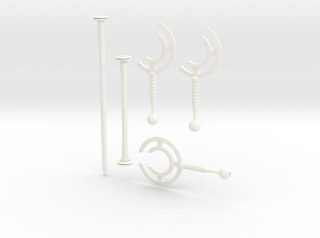 cyclone staff / blades bundle in White Processed Versatile Plastic