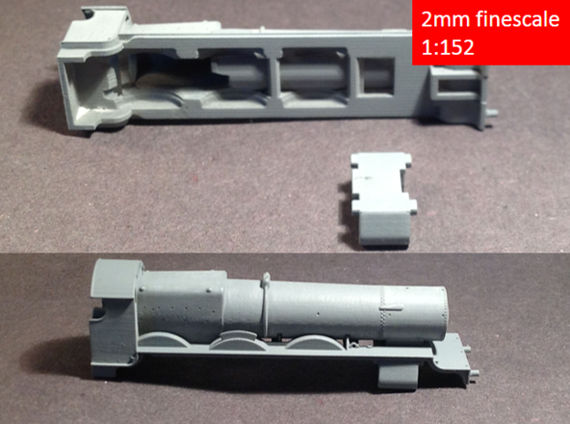 GWR Saint class locomotive, 2mm FS 3d printed 3D print with dusting of primer