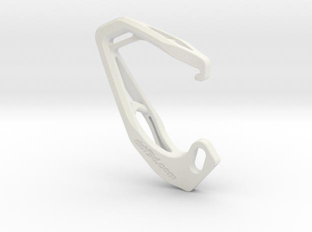 Cobra X Carabiner *Large* DH002SW in White Natural Versatile Plastic