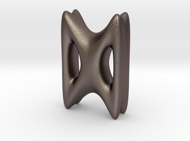 RUNE - D in Polished Bronzed Silver Steel