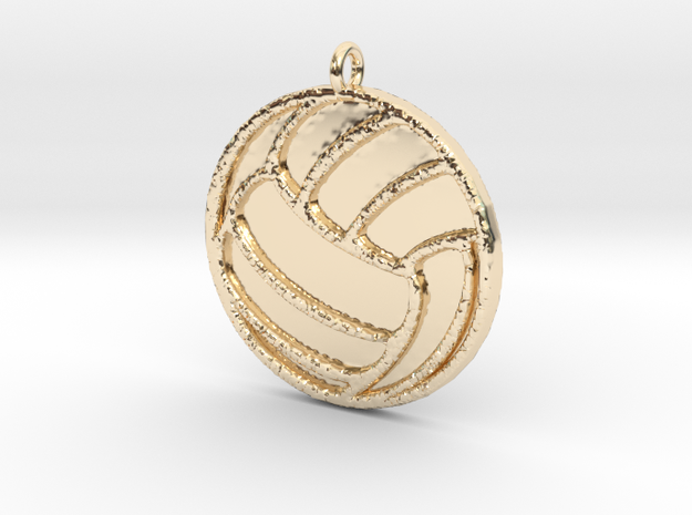 Volleyball in 14K Yellow Gold
