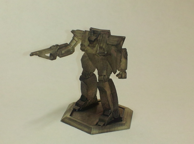 Mecha- Blitz LAM BattleMech (1/285th) in White Natural Versatile Plastic