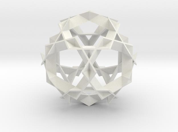 Asterisk Ball - 7.2 cm in White Strong & Flexible