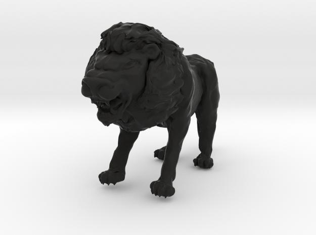 Lion in Black Natural Versatile Plastic