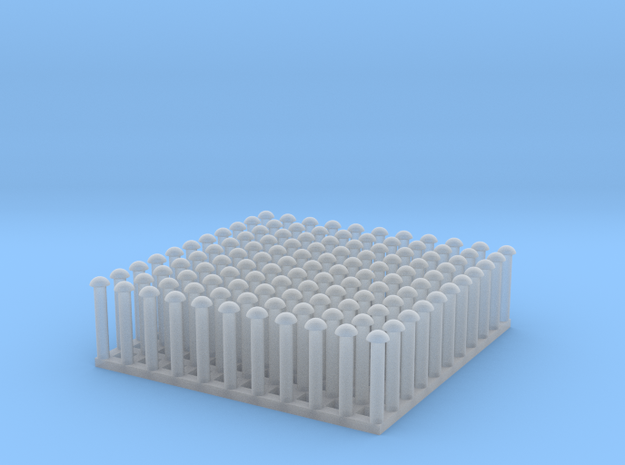 "1:24 Round Rivet Set (Size: 0.875"") in Smooth Fine Detail Plastic"