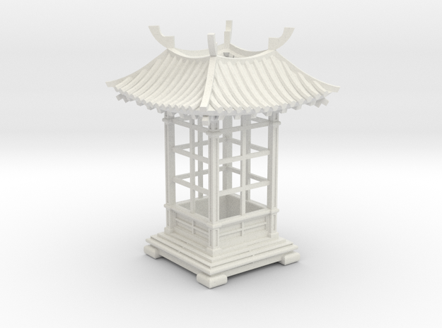 Japanese Pavilion Votive Shade in White Strong & Flexible