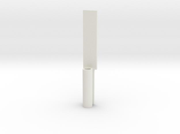FX-61 Phantom Pitot Tube Holder in White Natural Versatile Plastic