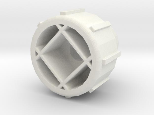 FX-61 Phantom Thumb Screw for 3mm Wing Bracket in White Natural Versatile Plastic