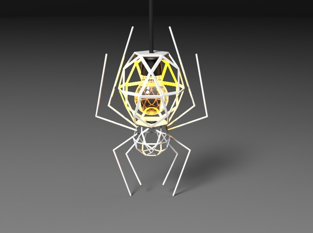 Spider Lamp in White Natural Versatile Plastic