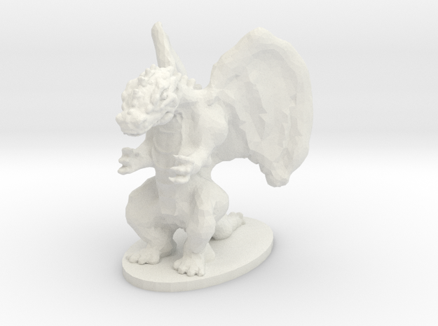 Dragon Miniature in White Natural Versatile Plastic