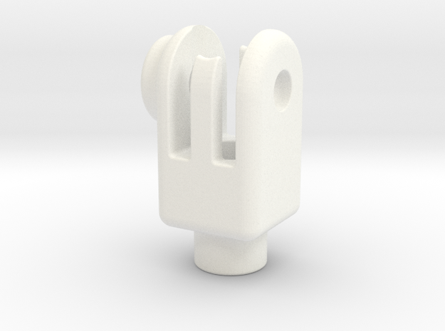 Head-set-cap-mount in White Strong & Flexible Polished