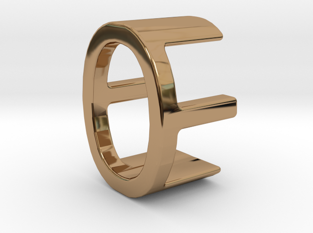 Two way letter pendant - EO OE in Polished Brass