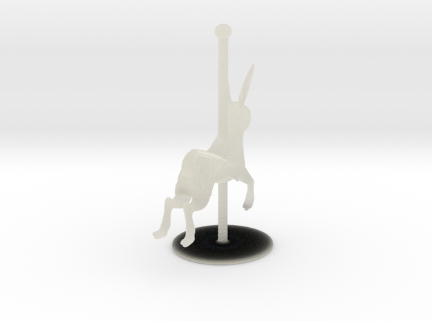 Rabbit Carousel Horse 3d printed Front view of the finished print