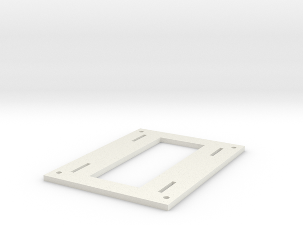 Spyder Quadcopter Battery Tray in White Strong & Flexible