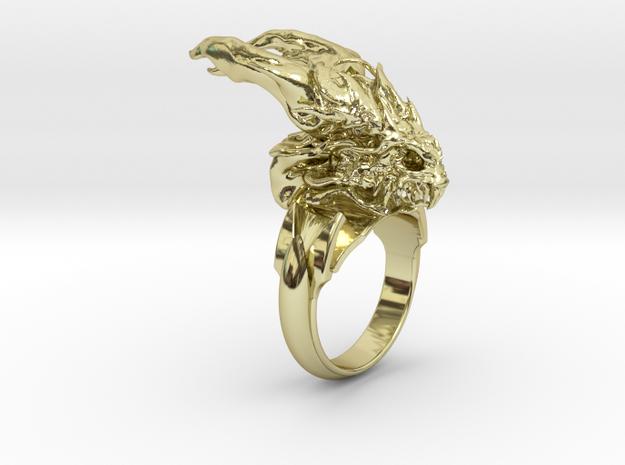 Dragon Skull Ring Deluxe size 12.5