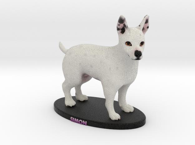 Custom Dog Figurine - Simon in Full Color Sandstone