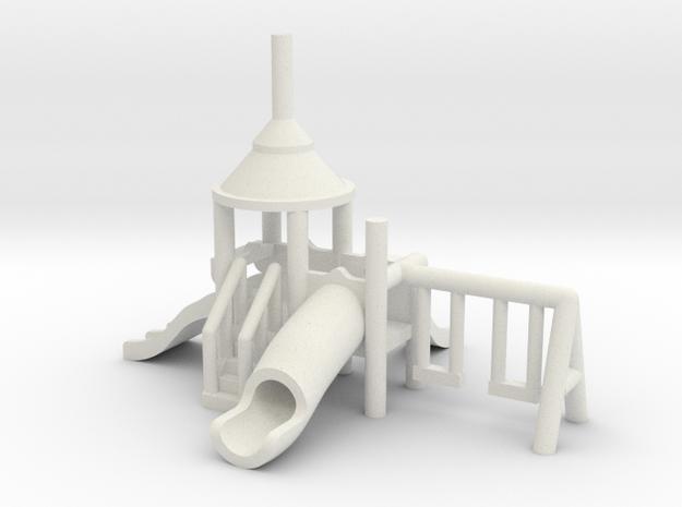 Spielplatz klein - 1:160 (Z scale) in White Natural Versatile Plastic