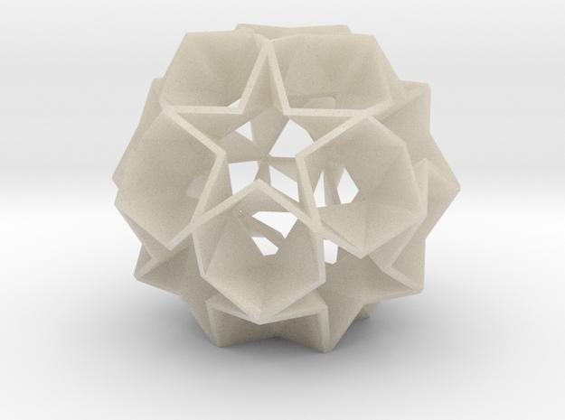 12 Star Ball [Acrylic & Steel] - 5.6 cm in White Acrylic