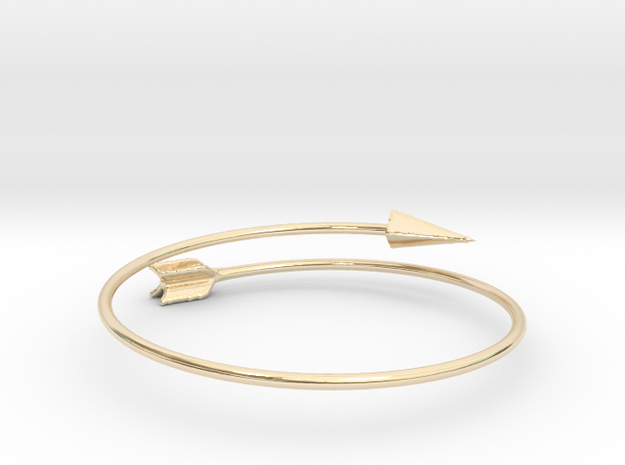 Arrow Bracelet in 14k Gold Plated Brass