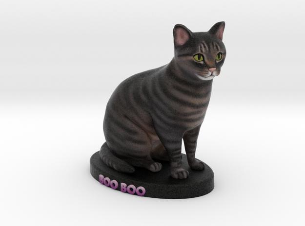 Custom Cat Figurine - Boo Boo in Full Color Sandstone