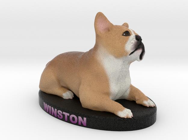 Custom Dog Figurine - Winston in Full Color Sandstone