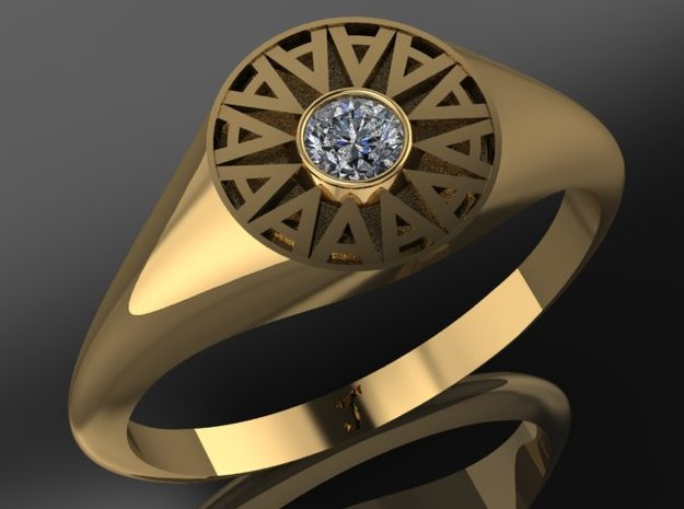 Ambit Energy Womans ring w/ 3mm stone in 14K Yellow Gold