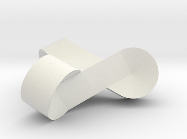 Doro-Knoten-abgerundet in White Natural Versatile Plastic