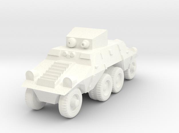 1/100 Austrian ADGZ Armored Car in White Processed Versatile Plastic