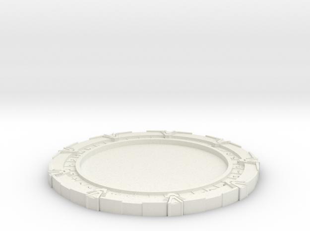 Stargate Coasters v2 in White Strong & Flexible
