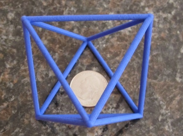 Octahedron (100 cc) in Blue Strong & Flexible Polished