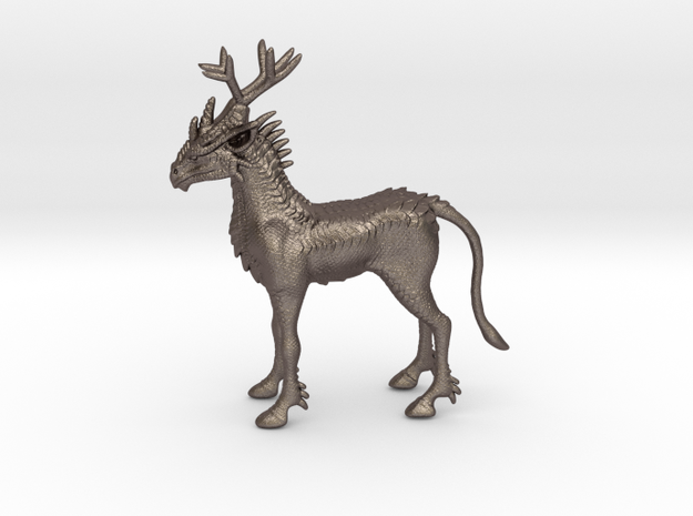 Kirin in Polished Bronzed Silver Steel