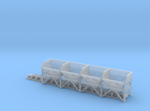 N Scale Aggregate Hopper 4+conveyor