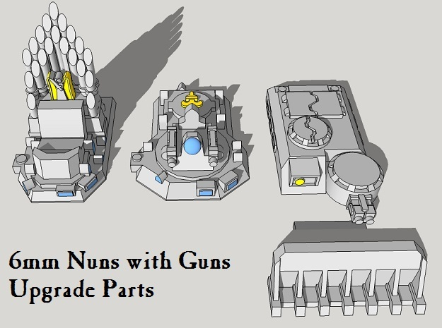 Epic Nuns-with-Guns Upgrade Parts in White Acrylic