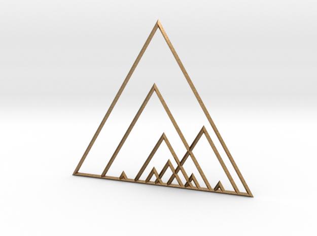 Triangles in Raw Brass