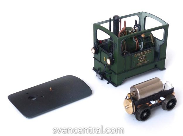 1:87 Tramway Loco no.5 Backer & Rueb 3d printed With the drive as can be ordered from www.tramworks.nl