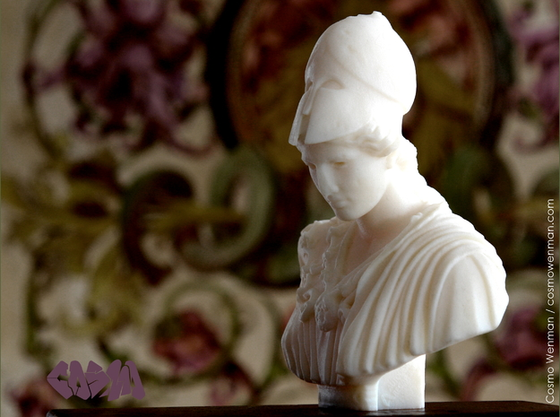 Bust of Athena of Velletri, goddess of technology in White Strong & Flexible