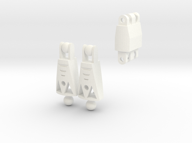 Articulated Warrior Legs (Commissioned Piece) in White Processed Versatile Plastic