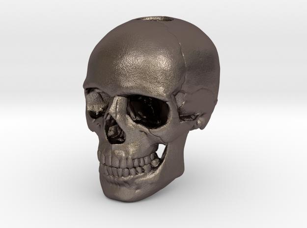 14mm .55in Keychain Bead Human Skull