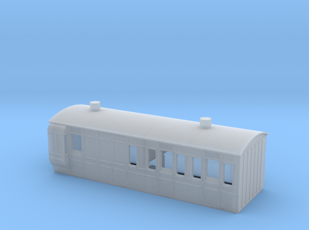 NSR 4wheel Brake Third body No24 - 4mm scale in Smooth Fine Detail Plastic
