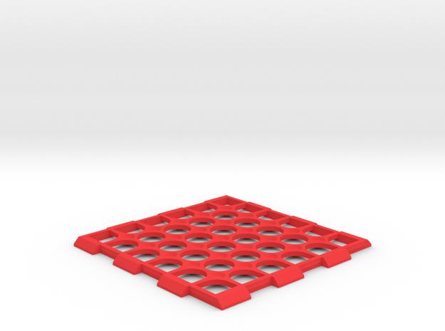 Edinburgh - Drink Coaster - Table Novelty in Red Processed Versatile Plastic