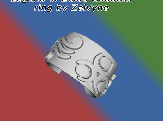 Zelda goddess ring (med/adjustable) 3d printed