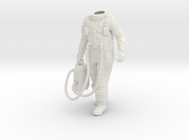 1:6 Gemini Astronaut / Body Nr 2 in White Strong & Flexible