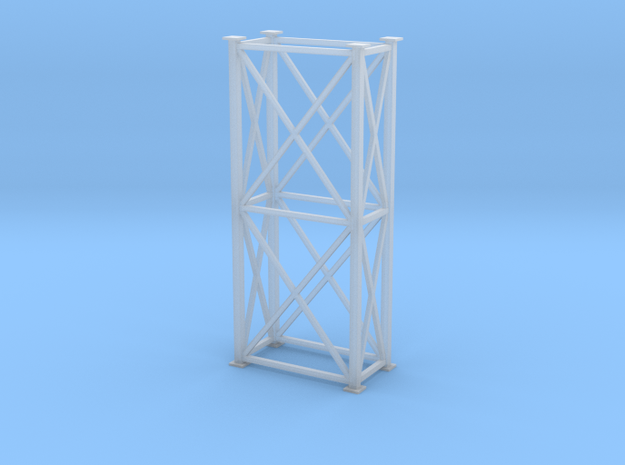 'S Scale' - 4' x 8' x 20' Tower in Smooth Fine Detail Plastic