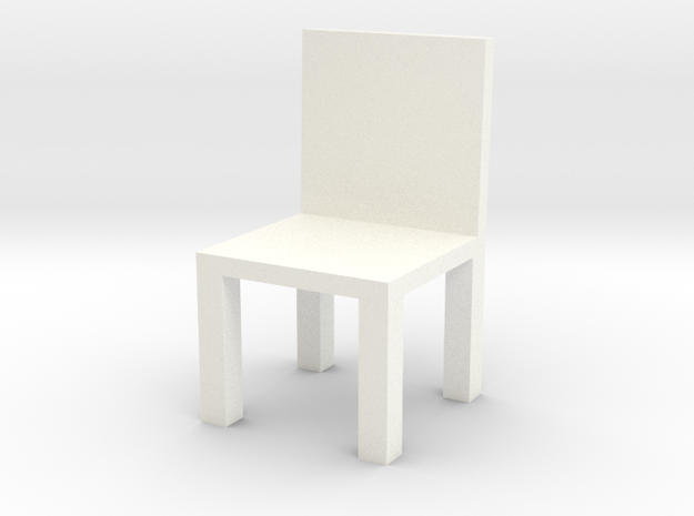 Chair #1 with engrave option in White Strong & Flexible Polished