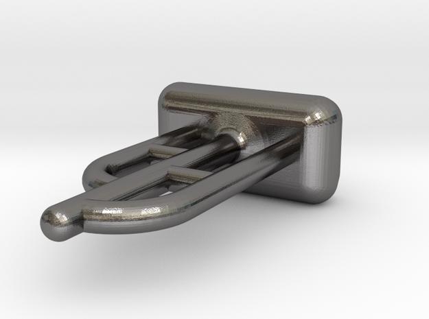 Tritium Ear Stud 1 (1.5x6mm Vial) in Polished Nickel Steel