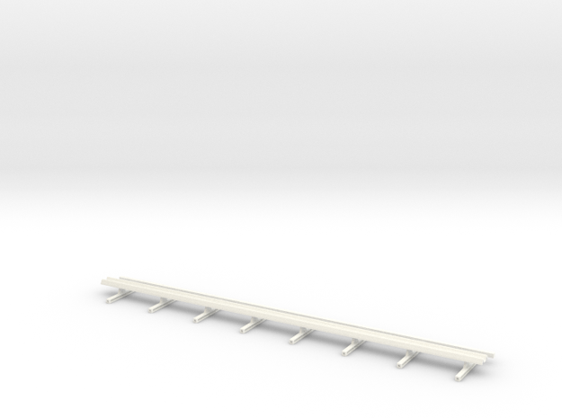 Guard Rail 1:50 Motorway in White Processed Versatile Plastic
